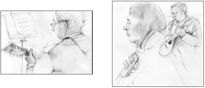 Mandolinists sketches